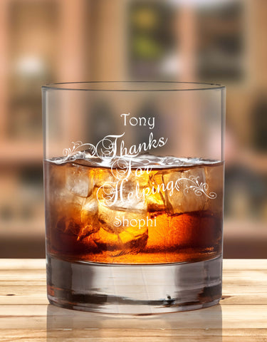 Personalised Glass To Say Thanks For Help