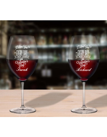 Personalised Glasses For Valentines Day