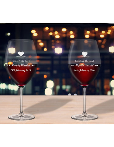 Personalised Glasses Anniversary And Date