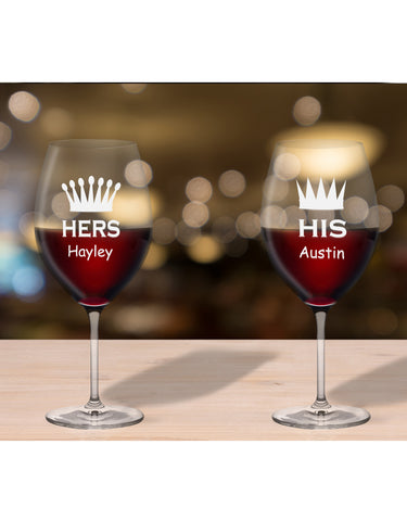 Personalised Glasses For Her & His