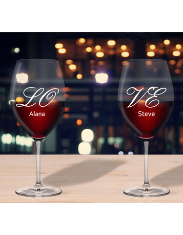 Personalised Glasses LO & VE