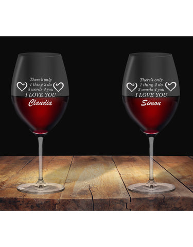 Personalised Glasses For Love One