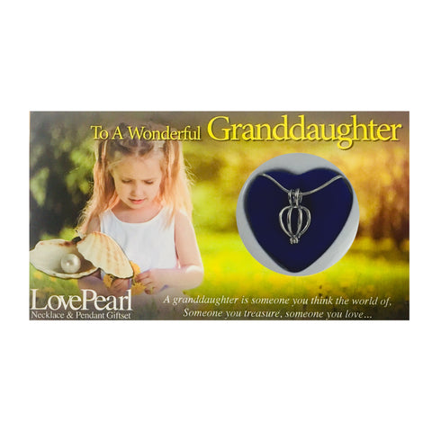 GRANDDAUGHTER - LOVE PEARL NECKLACE & PENDANT GIFTSET