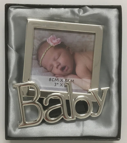 Baby Photo Frame Silver