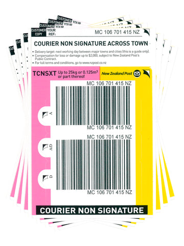 Courier Non Signature Across Town Prepaid Ticket - Pack