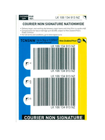 Courier Non Signature Nationwide Base Prepaid Ticket - Single