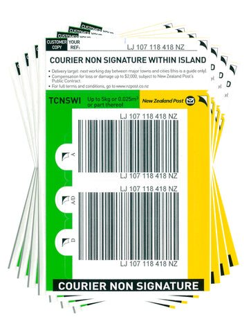 Courier Non Signature Within Island Base Prepaid Ticket- Pack