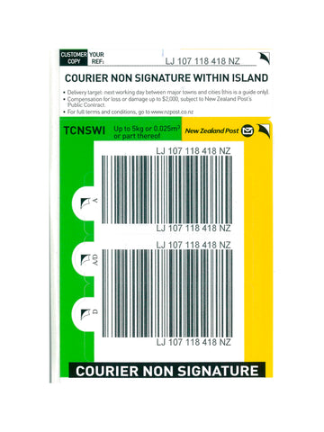 Courier Non Signature Within Island Base Prepaid Ticket- Single