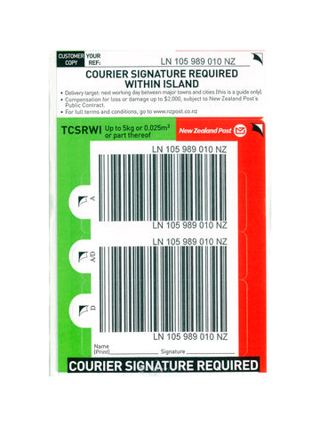 Courier Signature Within Island Base Prepaid Ticket- Single