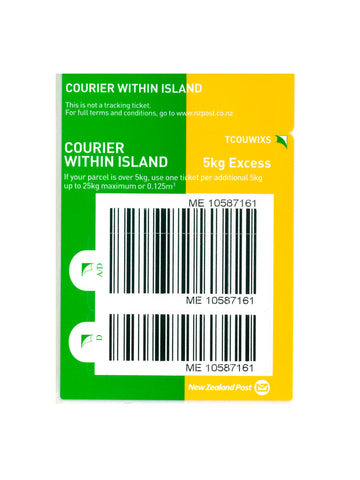 Courier Within Island Excess Prepaid Ticket - Single