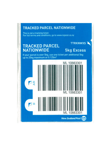 Tracked Nationwide Excess Prepaid Ticket - Single