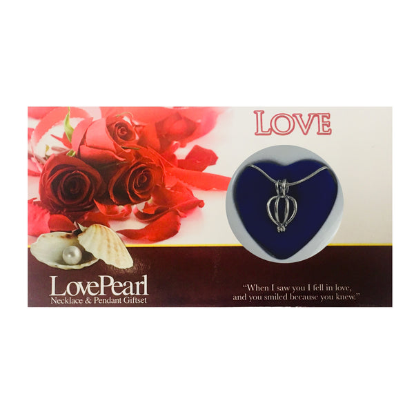 LOVE - LOVE PEARL NECKLACE & PENDANT GIFTSET