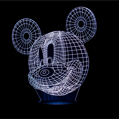 3D Mickey Night Light