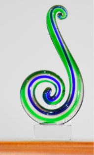 Koru Double Green Blue 8.5 cm