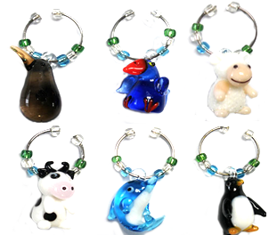 NZ Wine Charms Set