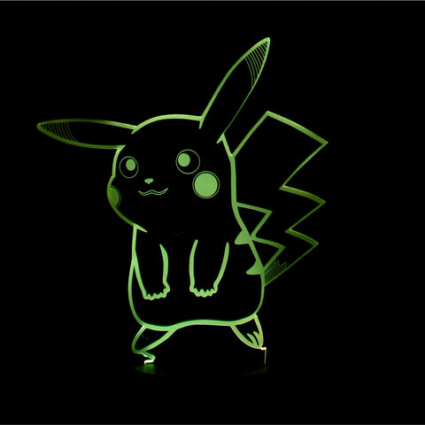 3D Pikachu Night Light