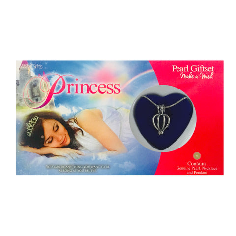 PRINCESS - LOVE PEARL NECKLACE & PENDANT GIFTSET
