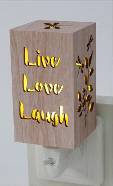 Live Love Laugh Wood Night Light