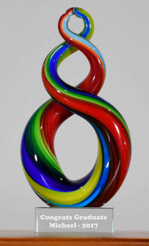 Personalised Koru Twist Rainbow 17 cm