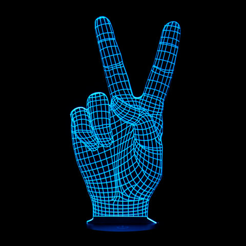 3D Victory Sign Night Light