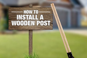 How to Install a Wooden Post
