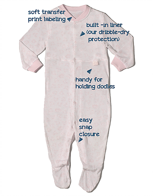 CoziDry Baby Girl's Coverall