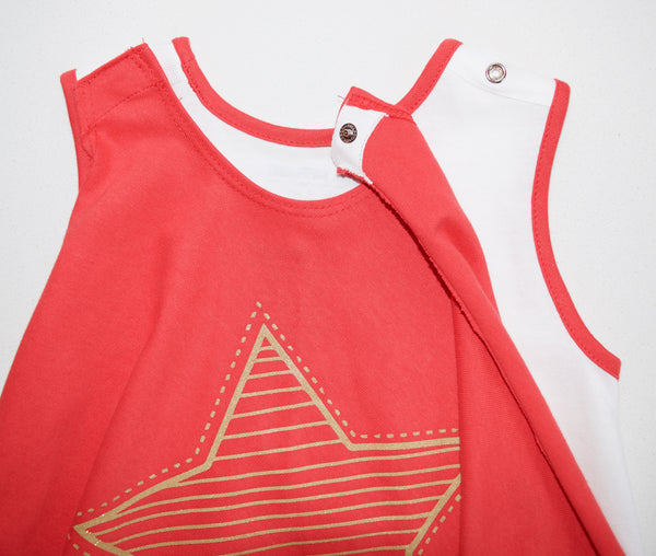 Pop Star Tee (Red) and Cape
