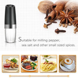 Kabob Set - Automatic Electric Pepper Salt Grinder with Blue LED Light - KonExcel