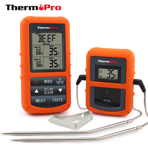 Kabob Set - ThermoPro TP-20 Wireless Digital Thermometer - KonExcel