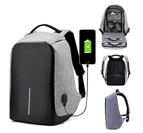 06f150d7a Men Canvas Laptop Backpack With USB Port - mr.sukimoako