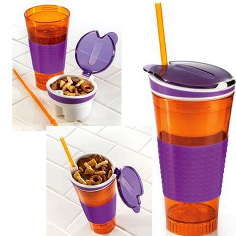 Portable Drinking And Snacking Cup