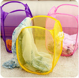 Foldable Pop Up Mesh Laundry Basket Bag
