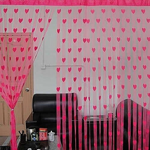 Heart Style Line String Window Curtain