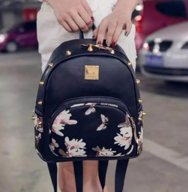 Korean Printed Backpack