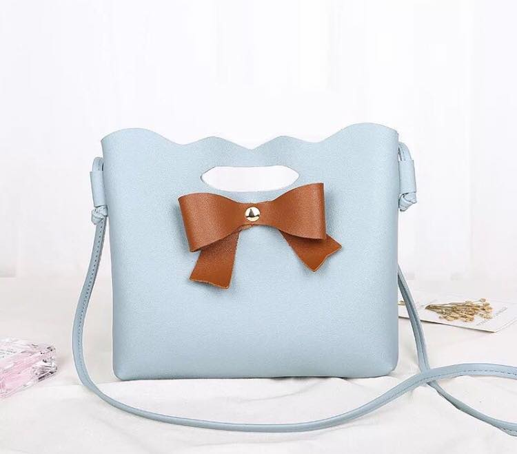 Sling Bag With Bowtie