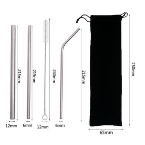 Reusable Stainless Drinking Straw 3pcs.