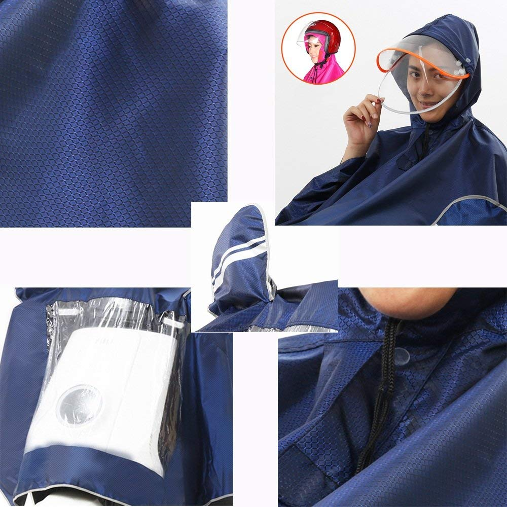 Double 2-person waterproof motor raincoat