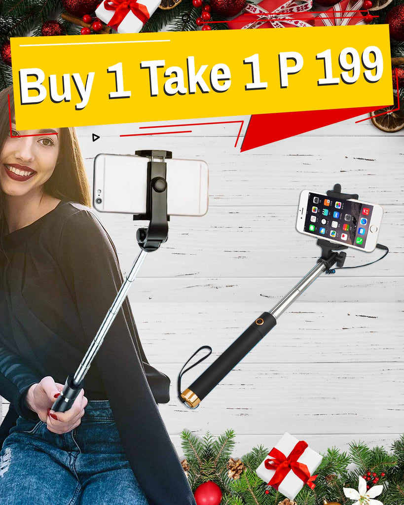 S1G Selfie Stick Extendable Handle BUY 1 GET 1 FREE!