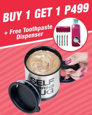 Swirling Coffee Cup, BUY 1 GET 1 + FREE TOOHPASTE SQUEEZER P499