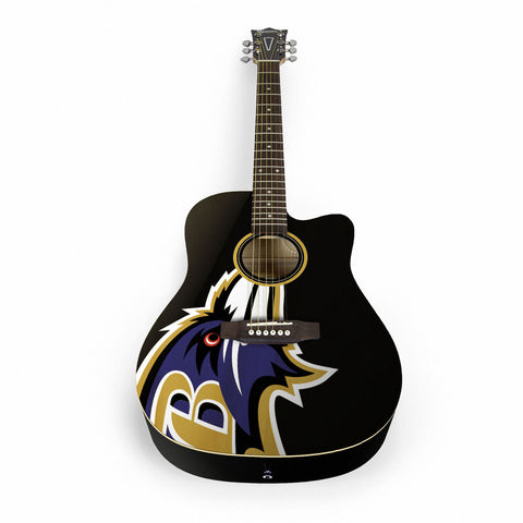 Baltimore Ravens Acoustic Guitar
