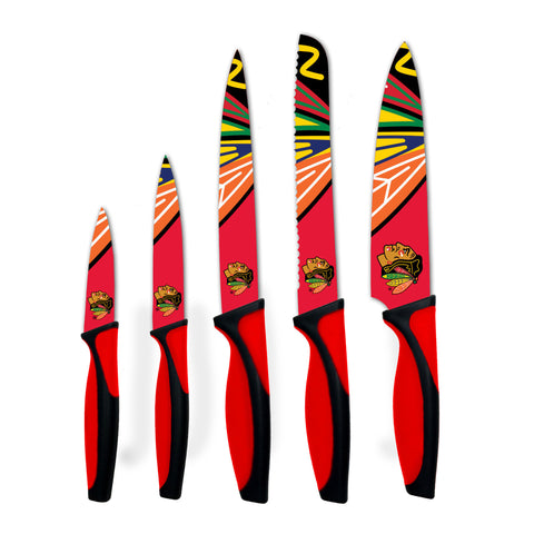 Chicago Blackhawks Kitchen Knives (set of 5) - The Sports Vault