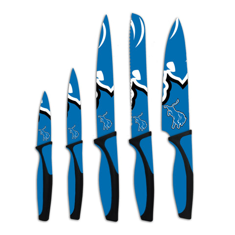 Detroit Lions Kitchen Knives (set of 5) - The Sports Vault