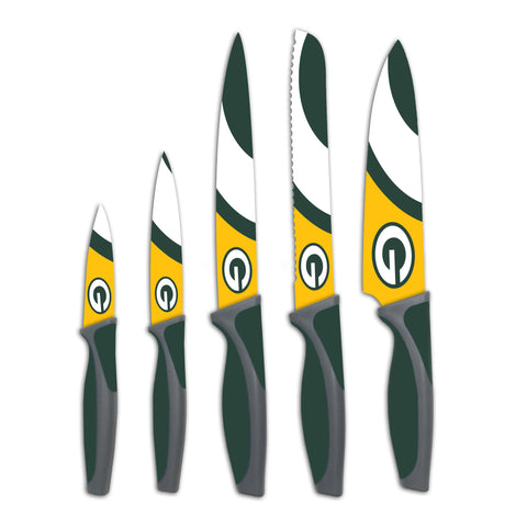 Green Bay Packers Kitchen Knives (set of 5) - The Sports Vault