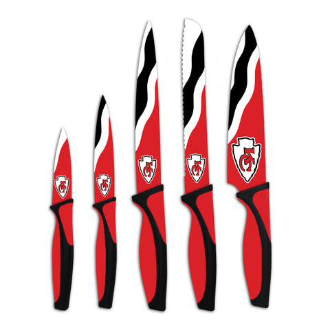 Kansas City Chiefs Kitchen Knives (set of 5) - The Sports Vault