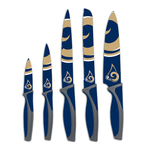 LA Rams Kitchen Knives (set of 5) - The Sports Vault