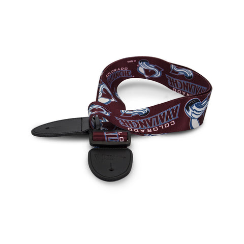 Colorado Avalanche Guitar Strap - The Sports Vault