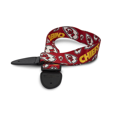 Kansas City Chiefs Guitar Strap - The Sports Vault