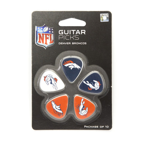 Denver Broncos Guitar Picks (10 pack) - The Sports Vault