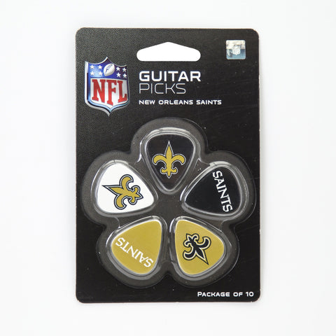 New Orleans Saints Guitar Picks (10 pack) - The Sports Vault