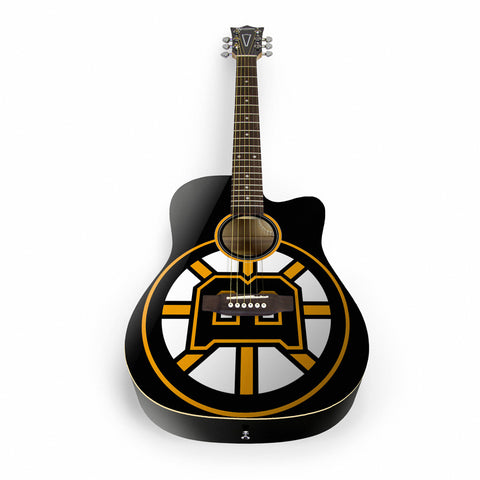 Boston Bruins Acoustic Guitar